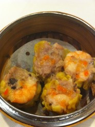 Steamed shrimp and pork siu mai