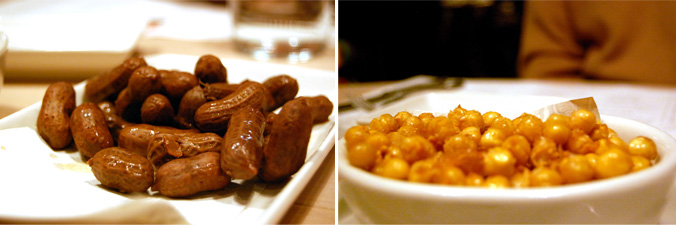 Boiled spicy peanuts & crispy fried chickpeas