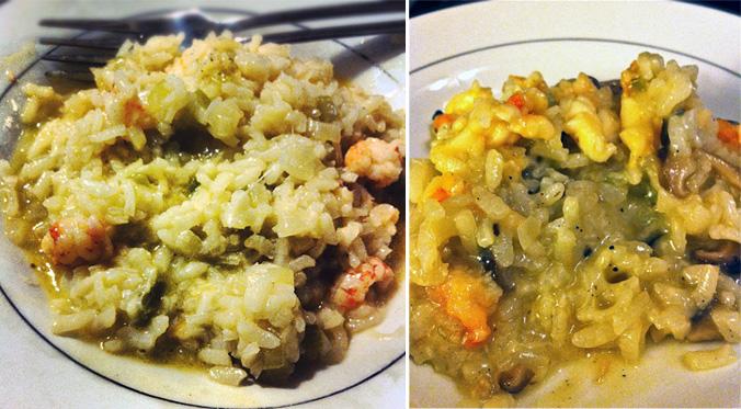 Lobster & mushroom risotto