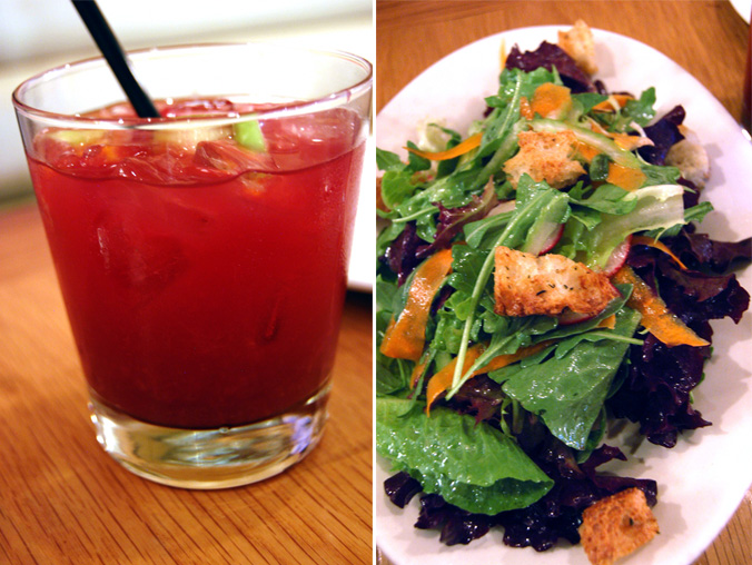 Sangria & organic mixed salad