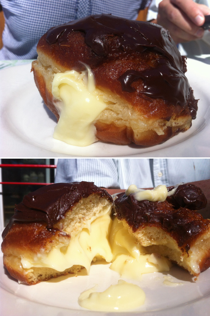 Joey's Junction custard doughnut