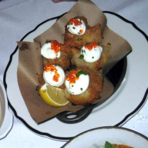 Accras de Morue a Creme Fraiche & Caviar