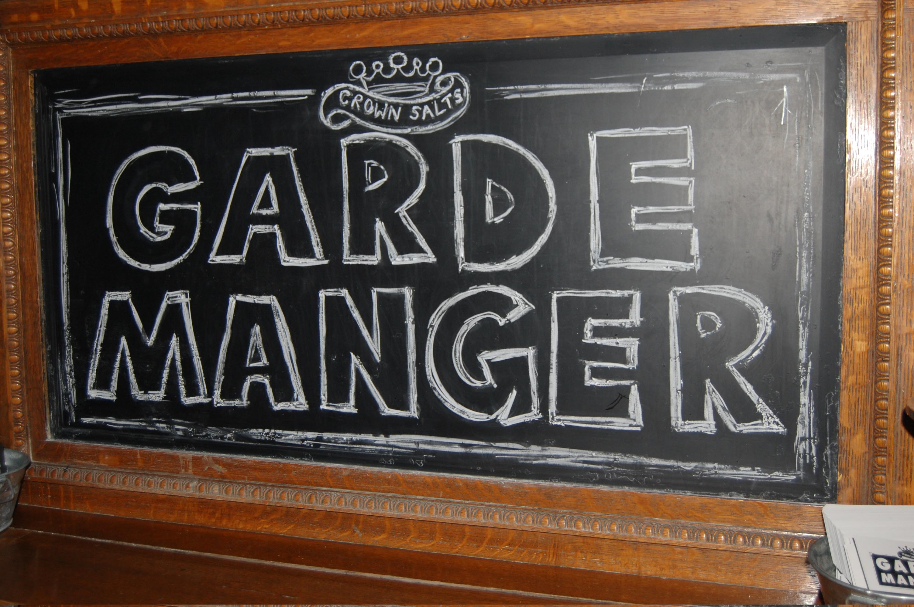 garde manger The garde manger, or pantry chef, is one of a number of skilled station chef positions in some kitchens it is nothing more than entry-level, but in a fine restaurant can be a chef position of power learn the difference.