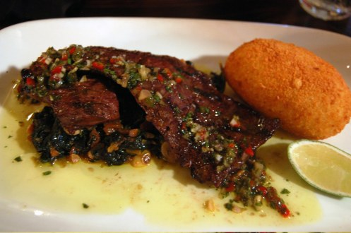 Grilled Skirt Steak w: Jalepeño Puff