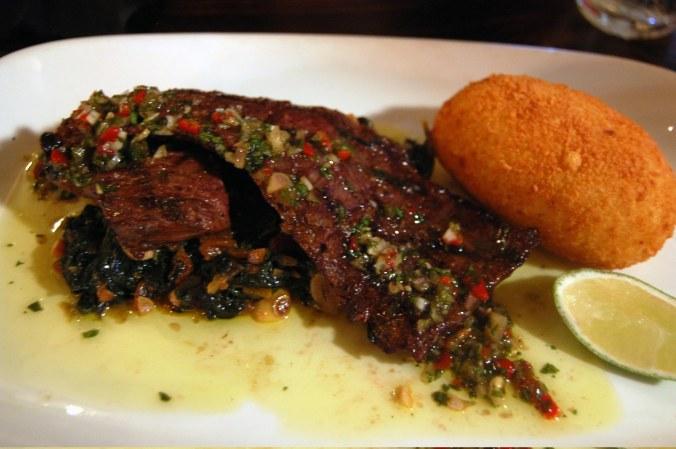 Grilled Skirt Steak w: Jalepeño Puff
