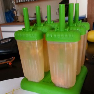 Popsicles in the making