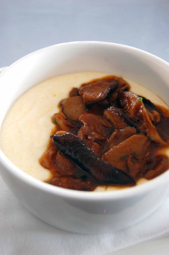 Creamy Polenta, Fricasee of Truffled Mushrooms