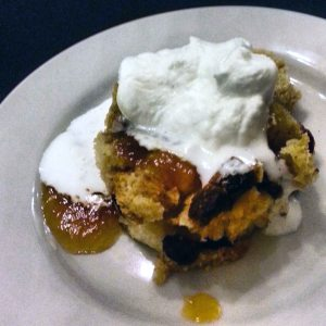 Fig & Peach Bread Pudding