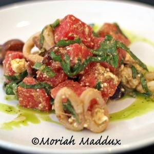 Grilled Calamari & Watermelon Salad