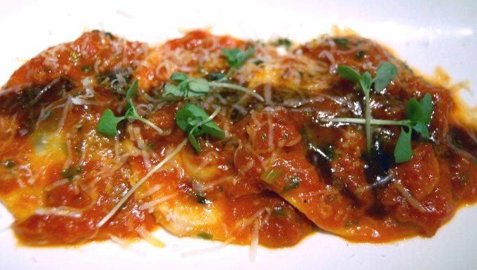 Braise short rib ravioli