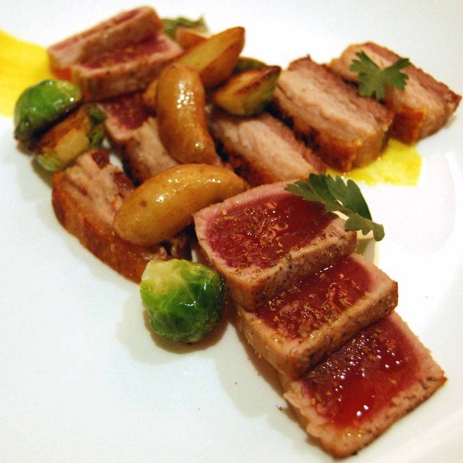 """Surf n' Turf"" Pork belly & Tuna"
