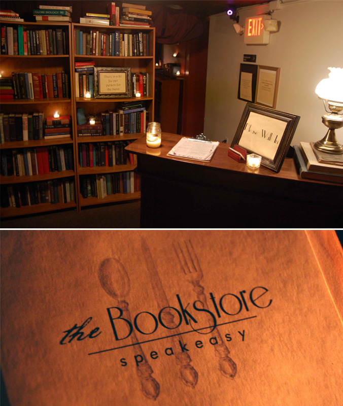 The Bookstore entry & menu