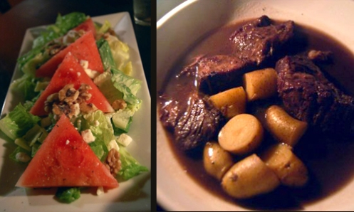 Watermelon Salad & Braised Shortribs