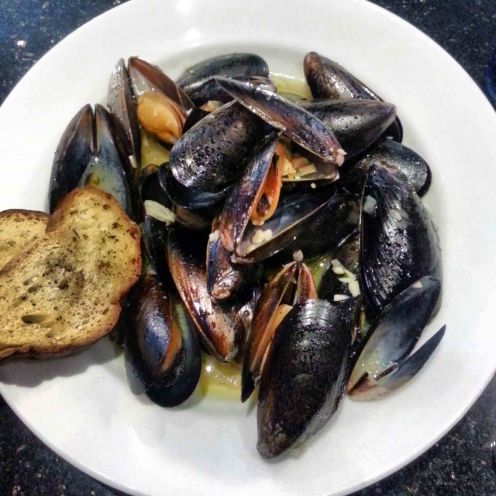 Bourbon Barrel Ale Mussels