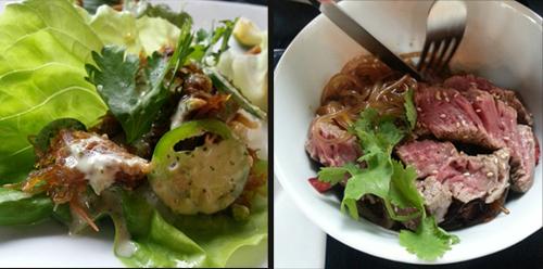 Duck Confit Lettuce Wraps & Korean Jap Chae