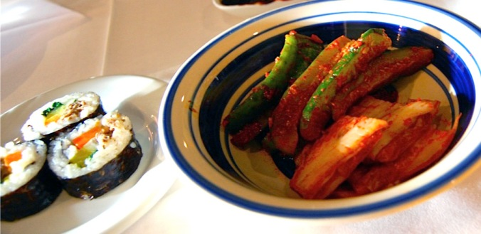 Pickled Cucumber & Cabbage with Bulgogi Maki