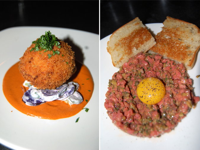 Scotch egg & steak tartare