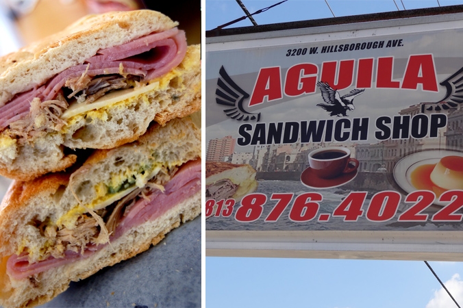 Aguila Sandwich Shop Cuban