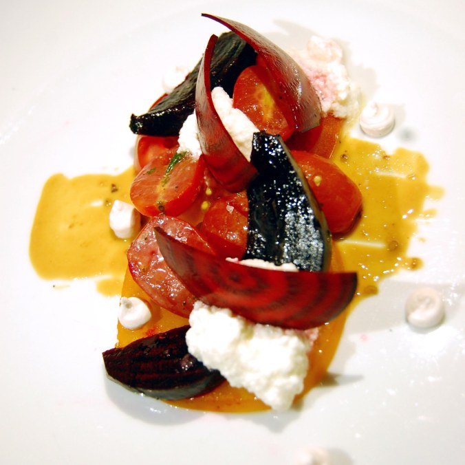 House ricotta, beets