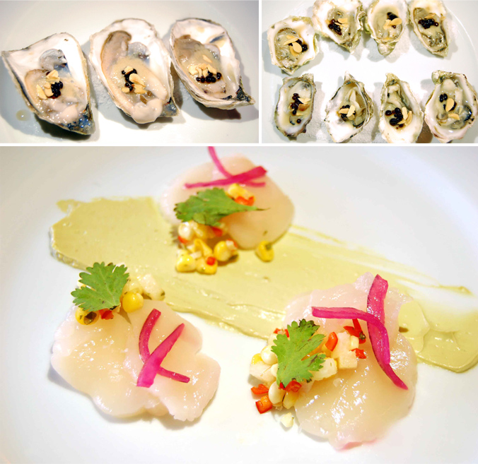 Oysters & Scallop Crudo