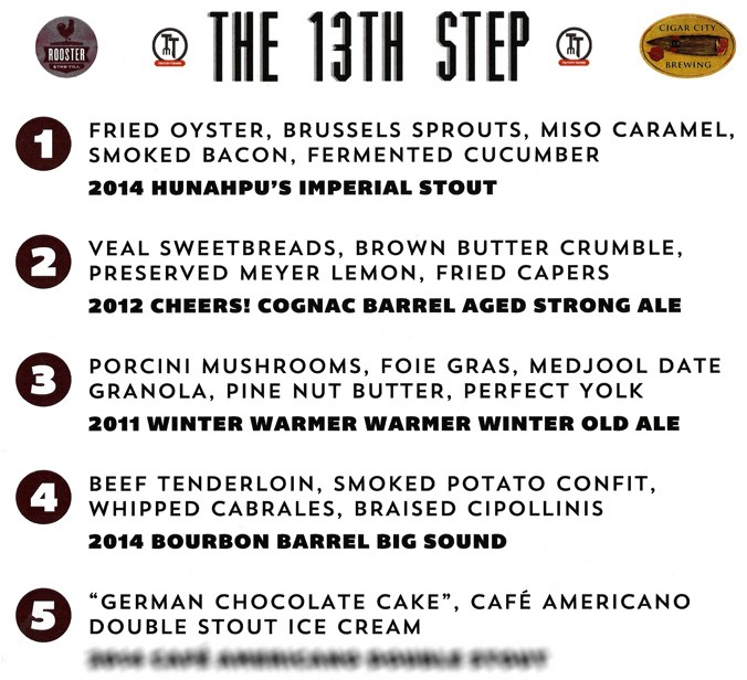 13th Step menu