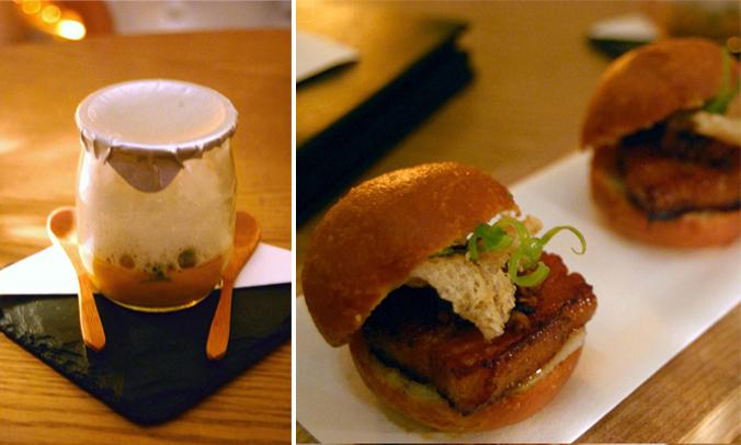 Bazaar-sea urchin cream-bao con lechon