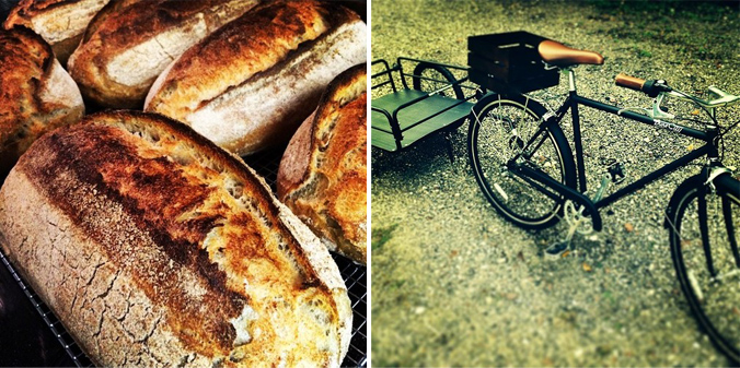 Bread Pedlar bike n' bread