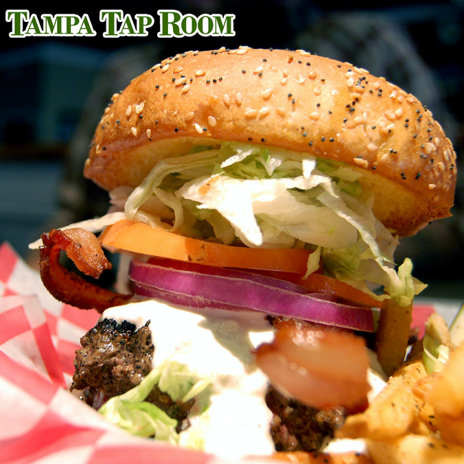 Tampa Tap Room burger