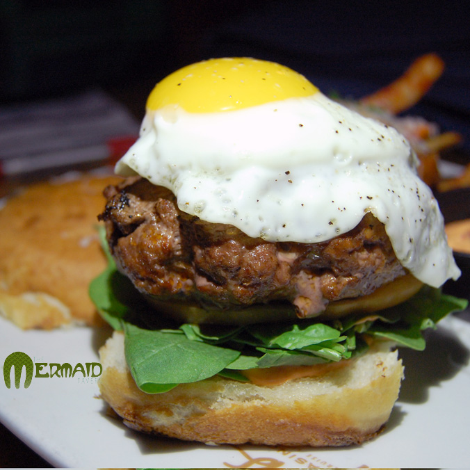 The Mermaid Tavern burger