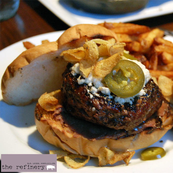 The Refinery burger