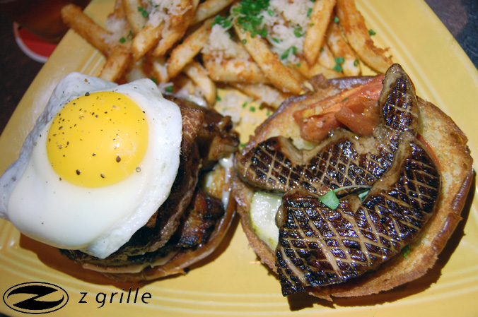 Z Grille Foie Gras Steak Burger