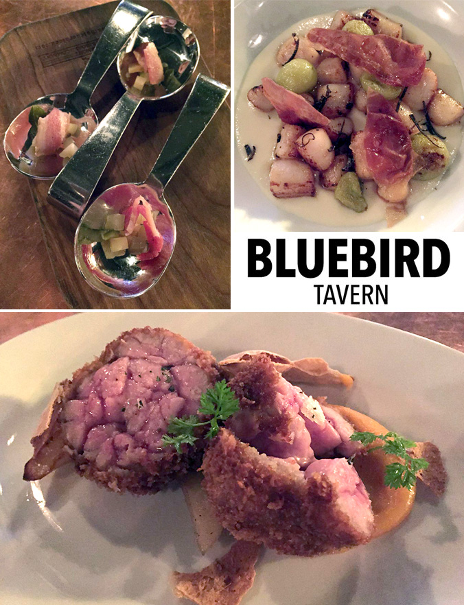 Bluebird Tavern spread